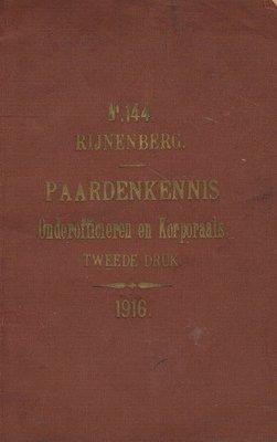 ( 1916 ) Handleiding tot de Paardenkennis ten behoeve van Onderofficieren en Korporaals - 2e-hands in goede staat