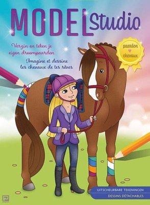 Verzin En Teken Je Eigen Droompaarden Model Studio ( Nieuwstaat ) Paarden-boeken.nl